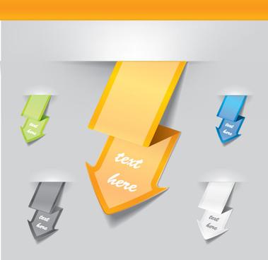 vector set of origami arrow design