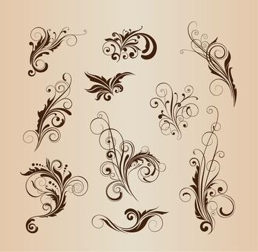 vector set of pattern design elements