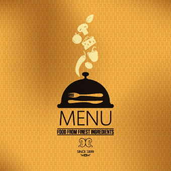 vector set of restaurant menu cover