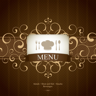 vector set of restaurant menu design graphics