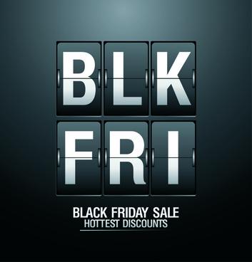 vector set of sale black friday backgrounds