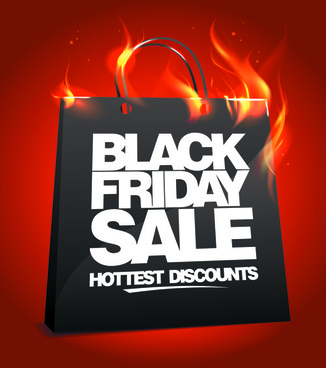 vector set of sale black friday backgrounds