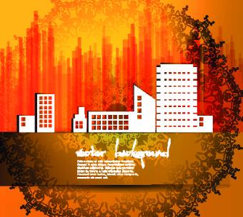 vector set of urban design background