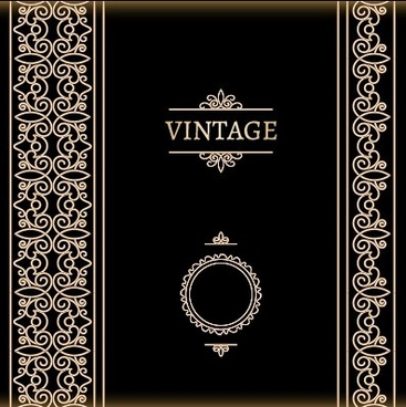 vector set of vintage luxury background design