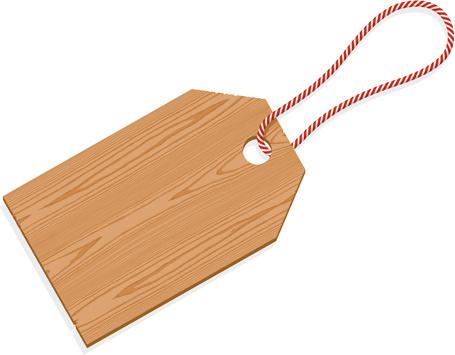 vector set of wooden labels elements