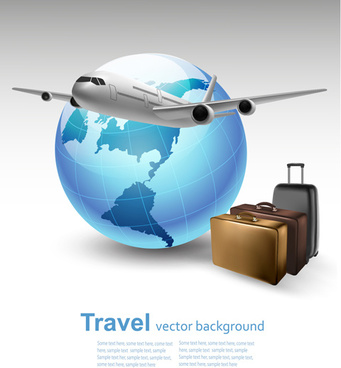 vector set of world travel design graphics
