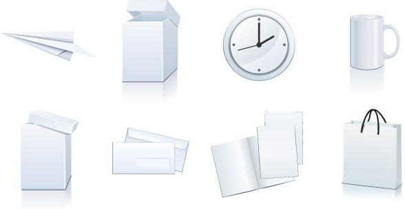 Vector set: white paper � packaging and stationery elements