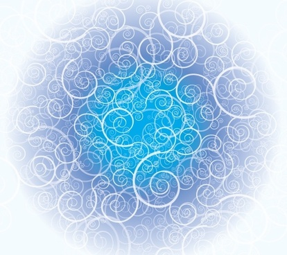 abstract background curves decoration circle blue design