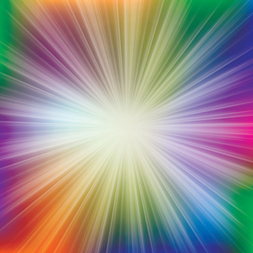 vector shiny rainbow background
