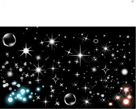 starlit background sparkling dark ornament