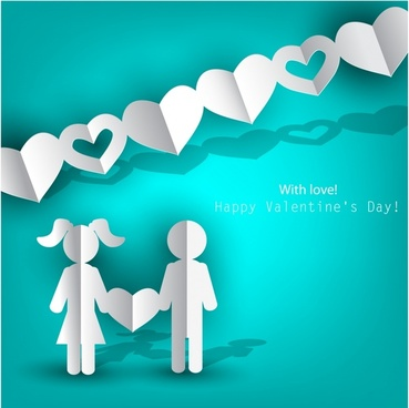 vector silhouette happy valentine39s day love