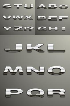 vector silver metallic character
