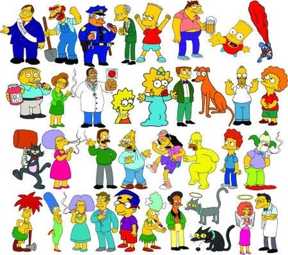 The simpsons characters vector free vector download (5,215 Free
