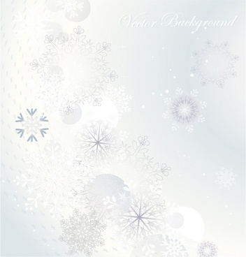 vector snowflake background shading
