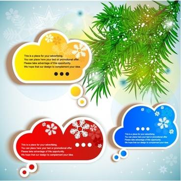 vector snowflake sticker label stickers