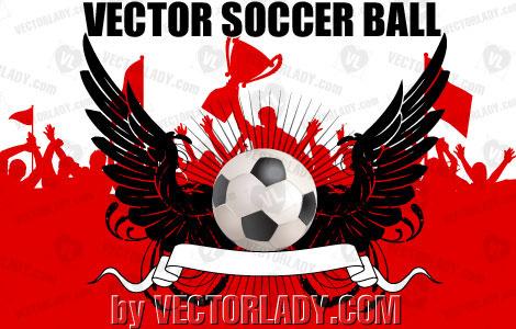vector soccer ball banner