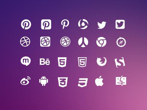 vector social icons set