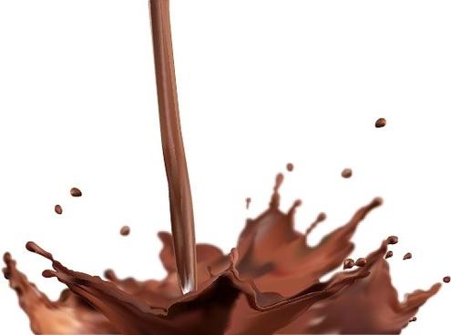 vector splash of chocolate