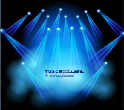 vector spotlights stage lighting effects