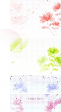 nature background templates spring theme colorful bright design