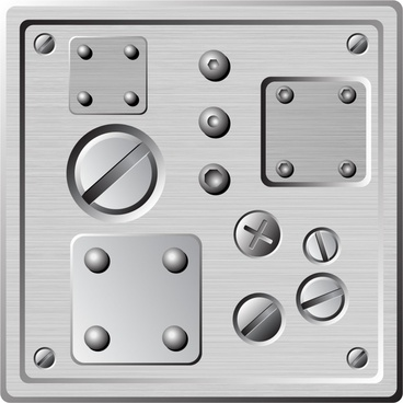 mechanical plate background nuts icons grey design