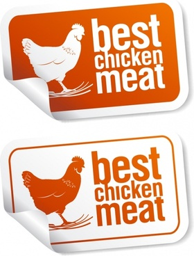 food sticker template chicken sketch modern decor