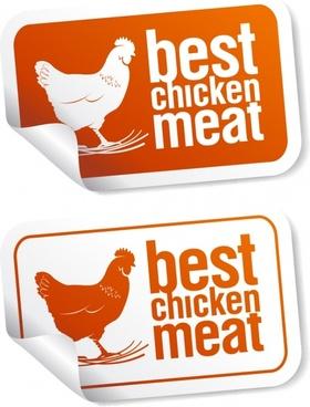 food sticker template chicken sketch modern decor