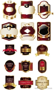 labels templates luxury elegant shaped decor