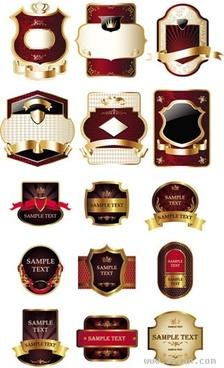 labels templates luxury elegant shaped decor