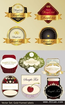 labels templates modern colorful elegant luxury design