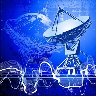 vector stunning satellite receiver