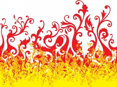 fire background bright dynamic curves sketch
