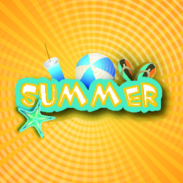 vector summer background art