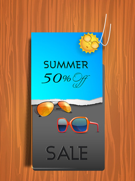 vector summer labels set