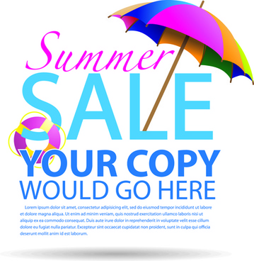 vector summer sale design background graphics