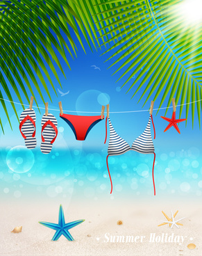vector summer vacation background