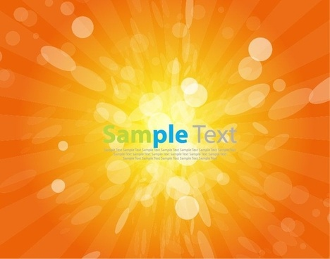 Vector Sunshine Background