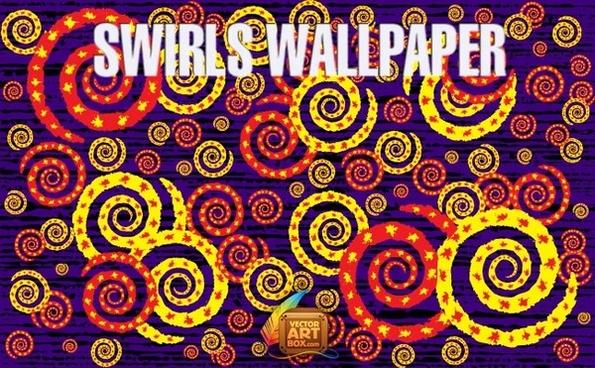 Vector Swirls Wallpaper