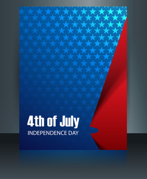 vector template brochure for united states of america in president day reflection design