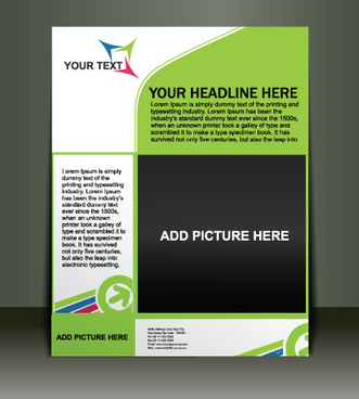 vector template presentation of flyer design