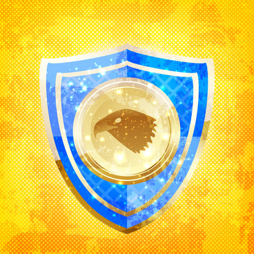 vector template with shiny shield background