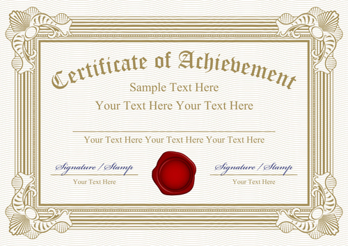 Vector template coreldraw certificate free vector download 16766 vector templates of certificates design set yadclub