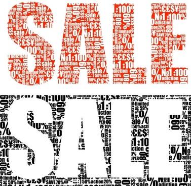 vector text piled sale