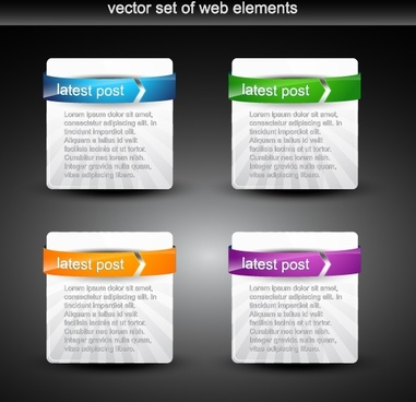 web design templates shiny colored modern text box