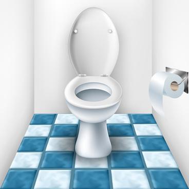 vector toilet design elements set