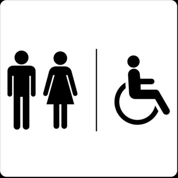 Vector Toilet Sign Man And Woman Design