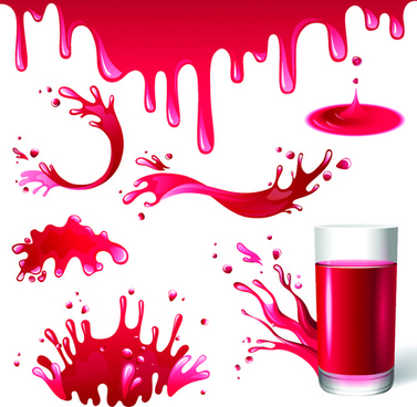 vector tomato juice design elements
