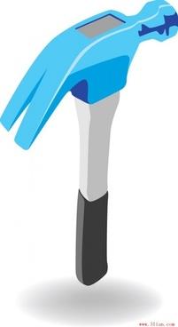 vector tools hammer vector