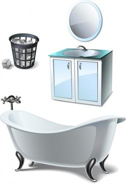 vector trash bin cabinet furniture