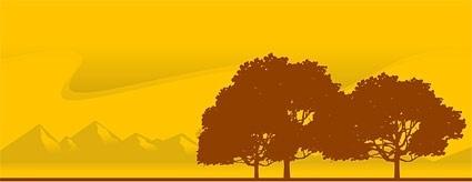 vector trees at dusk